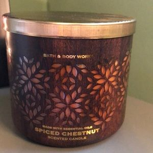 Bath & Body Works Spiced Chestnut 3 wick Candle